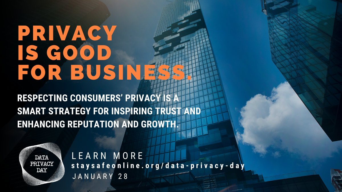 Privacy is good for businesses big and small. Learn how your business can be #PrivacyAware.  #CyberMonday