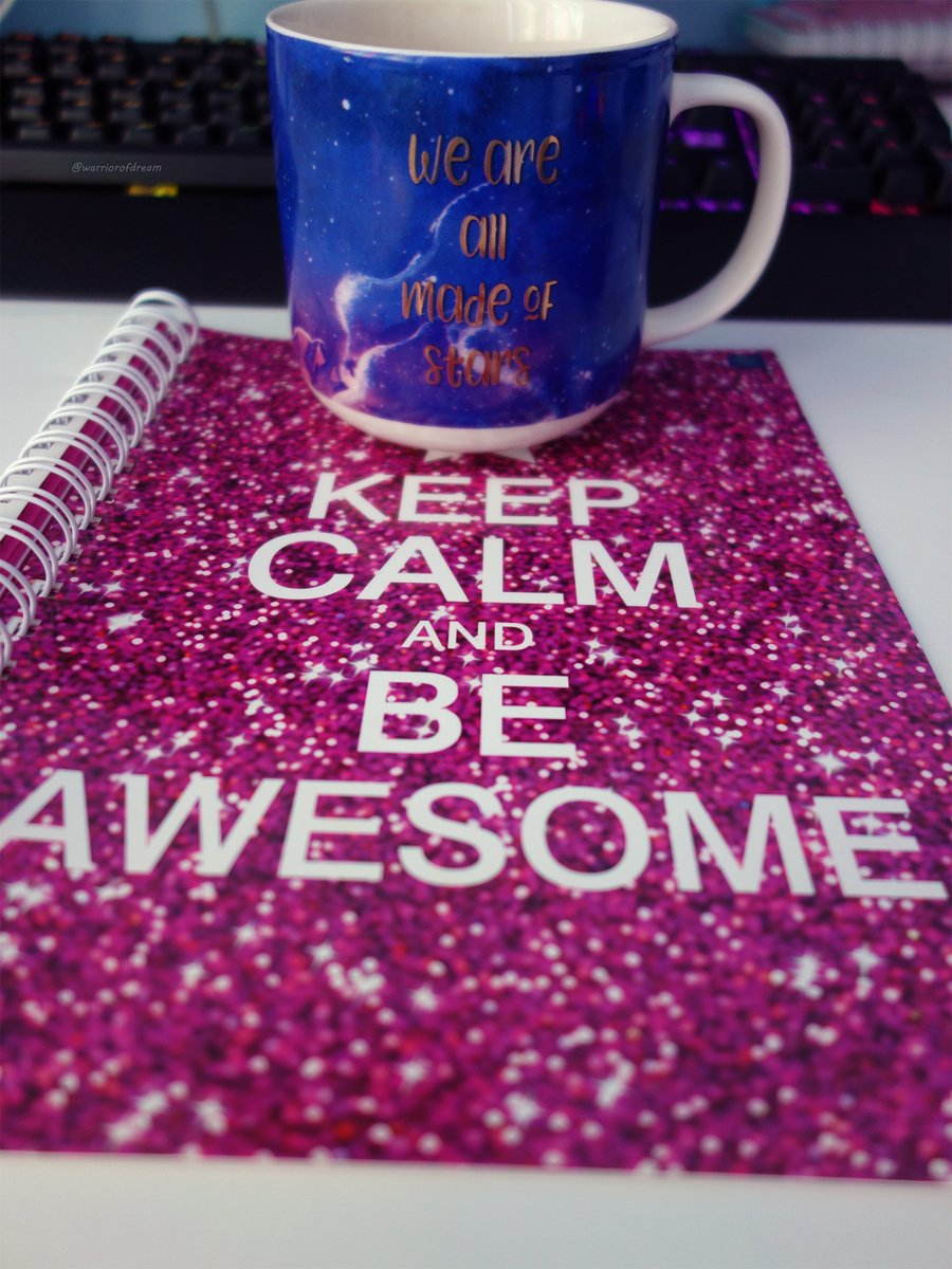 Something a bit different... Keep calm and be AWESOME! ✨ #photography #mug #galaxy #pink