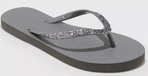 Women's Brynn Glitter Flip Flop Sandals $1.49!  #affiliate #target #deals #clearance #fashion