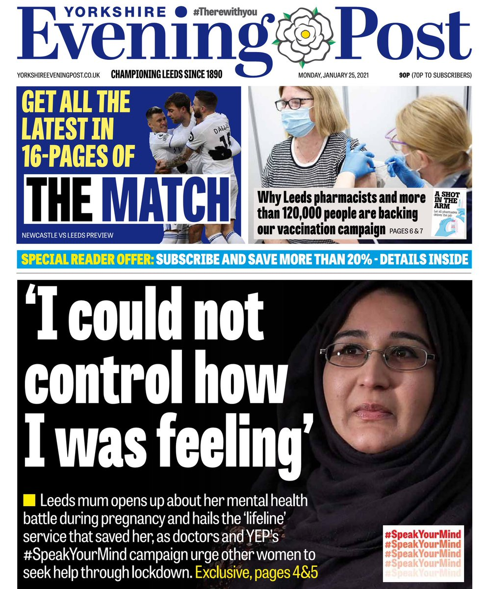 Perinatal Mental Health Service featuring in todays YEP @NewsLeeds raising the awareness of maternal mental health & the impact of the pandemic on new mums and mums to be.🤰🏾 Read what our very own Dr Narayan and volunteer Sadif had to say about this. 👇🏾 yorkshireeveningpost.co.uk/health/early-p…