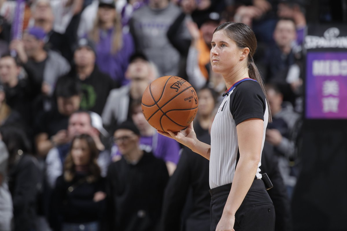 Natalie Sago and Jenna Schroeder will be the first two women to officiate the same game in NBA history 🙏  They're going to officiate the Hornets-Magic game tonight