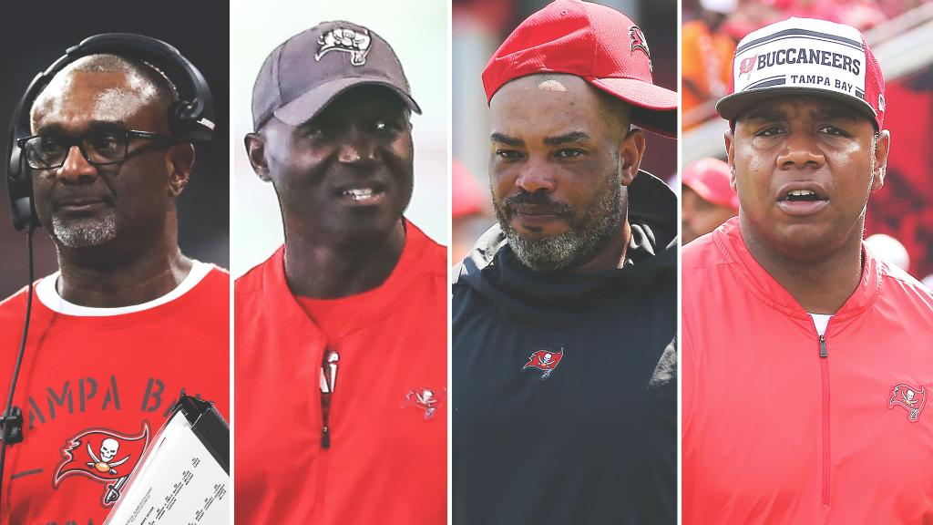 All of the major coordinators for the Bucs are Black 👏 (h/t @TheUndefeated)  🏈 Keith Armstrong - Special Teams Coordinator 🏈 Todd Bowles - DC 🏈 Harold Goodwin - Asst. HC/Run Game Coordinator 🏈 Byron Leftwich - OC