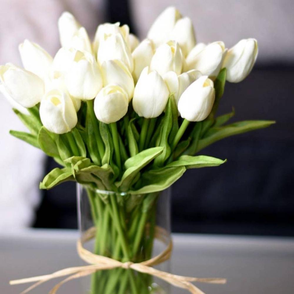 Artificial Tulip Flower Set 10 Pcs #homeinterior #homecoming
