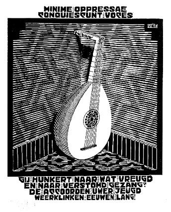 Emblemata - Lute, 1931 #surrealism #mcescher