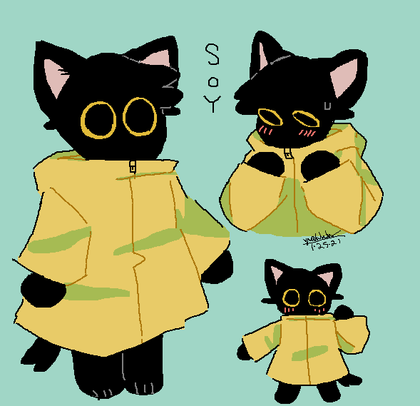 HI GUYS MEET SOY !!!!  #oc #furry #mspaint #cat #art