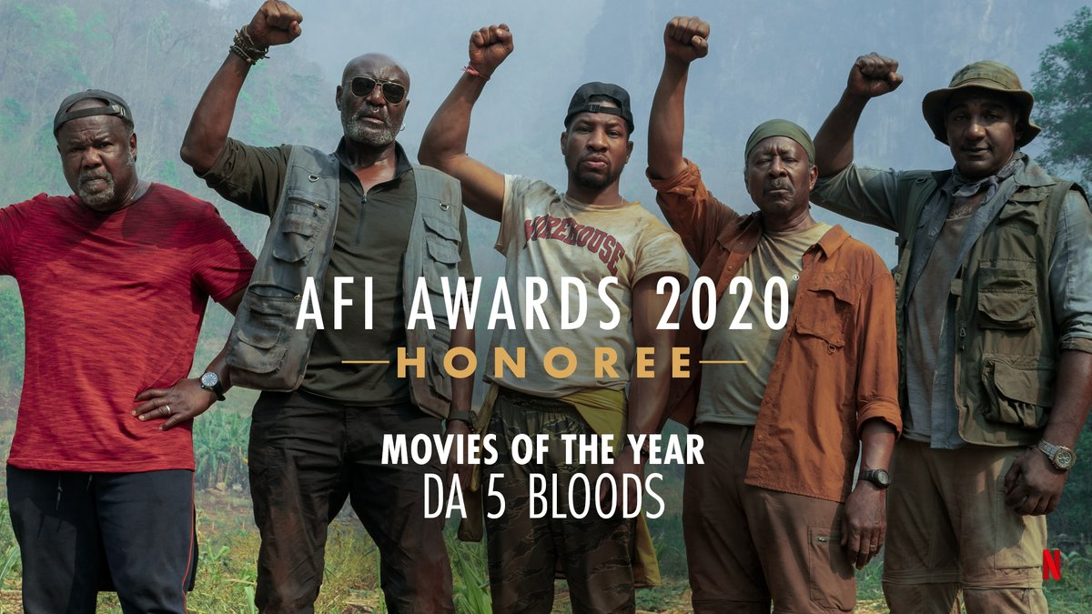 Out of sight! Congratulations to Da 5 Bloods recipient of the @AmericanFilm Movies of the Year Honor! #AFIAwards