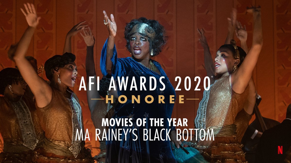 Music to our ears. Congratulations to @MaRaineyFilm recipient of the @AmericanFilm Movies of the Year Honor! 🎷#AFIAwards