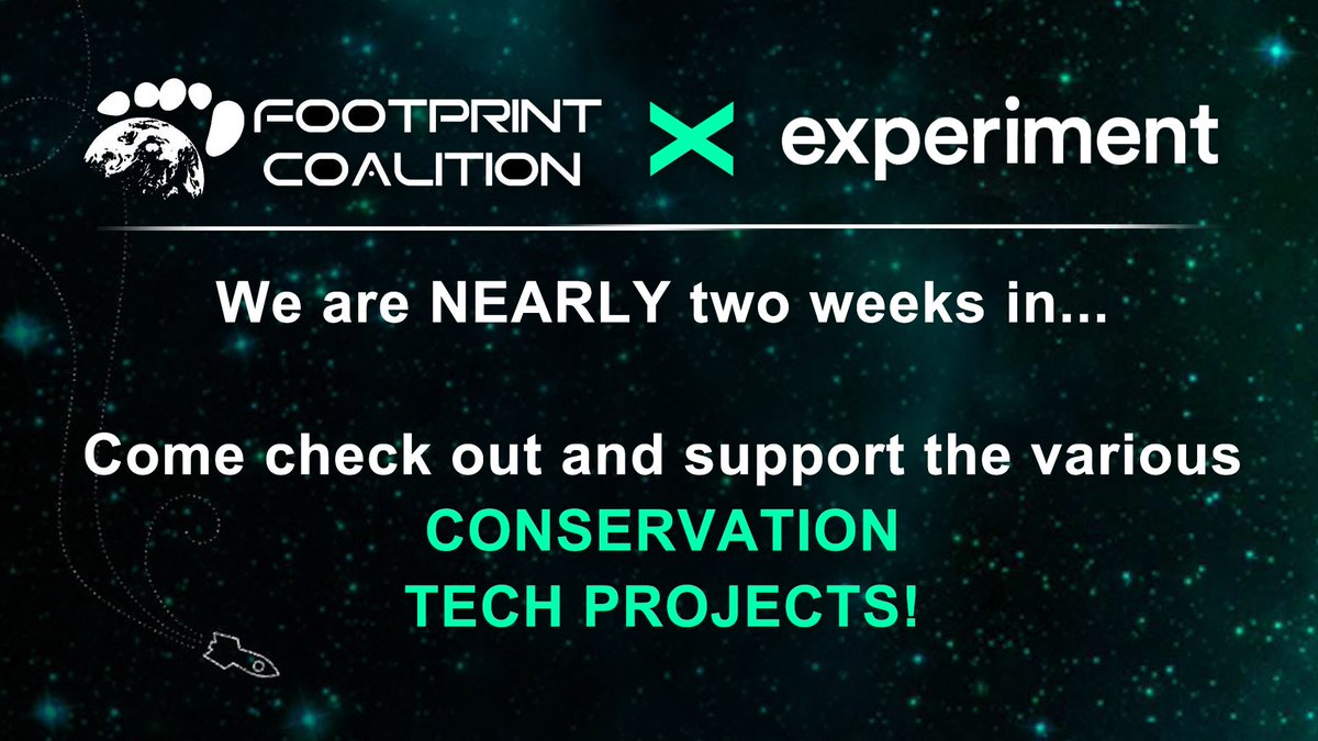 Come check out and support the various #CONSERVATION TECH Projects over at @lets_experiment!  LINK▶️