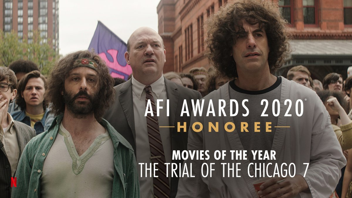 The whole world is watching. Congratulations to @trialofchicago7 recipient of the @AmericanFilm Movies of the Year Honor! #AFIAwards