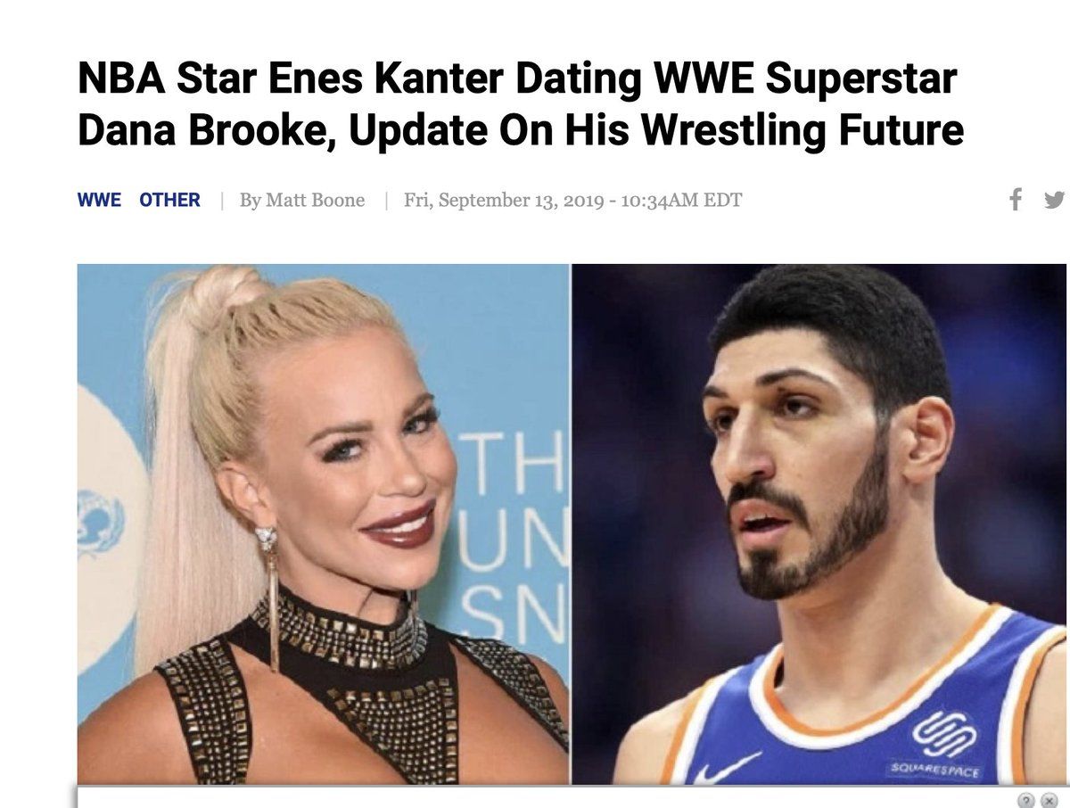 Turkish press says Enes Kanter is currently dating granddaughter of Rockefeller, Ariana Rockefeller/  Kanter was reportedly previously dating a pro-wrestler.  At least we know he doesn't have a certain type?  #MagazinePromo :)