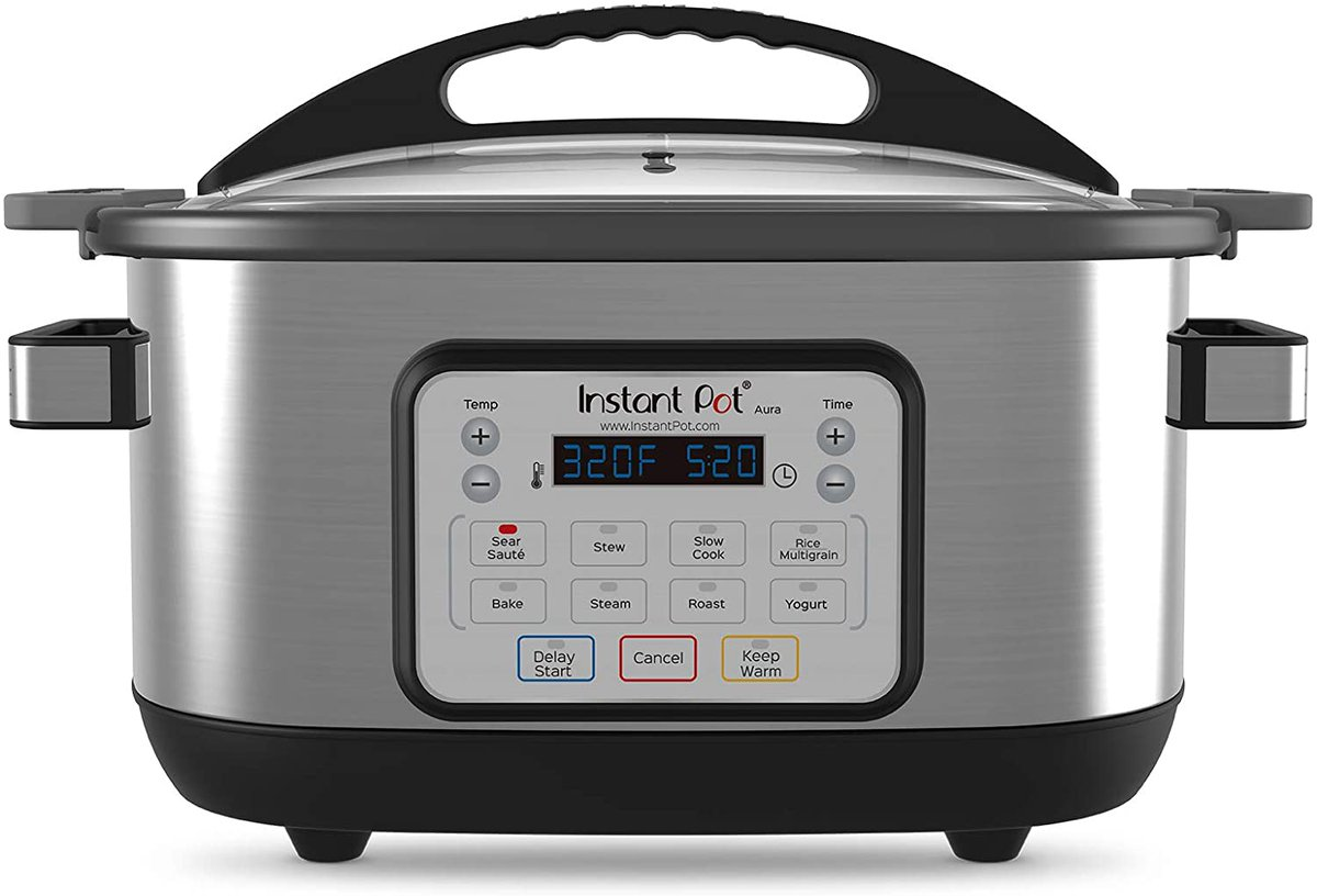 #ad Instant Pot Aura Multi-Use Programmable Slow Cooker for $70! (reg $130)