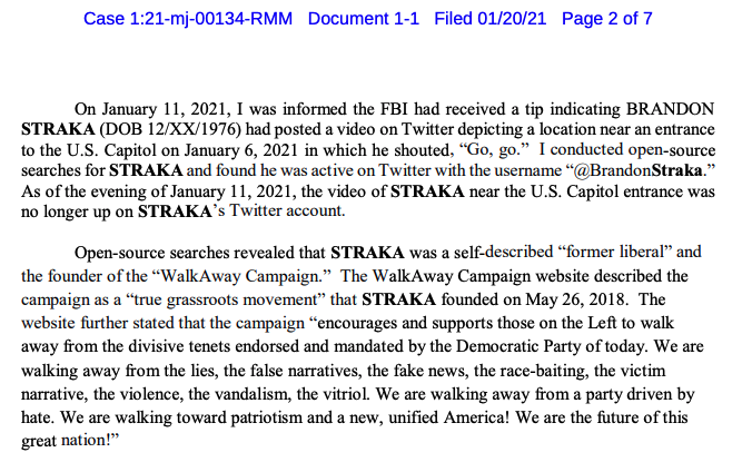 "Brandon Straka, founder of the ""Walk Away"" campaign who describes himself as a ""former liberal,"" charged in the Capitol insurrection: https://t.co/K7JehAdInz https://t.co/pxh9zVhfYK"