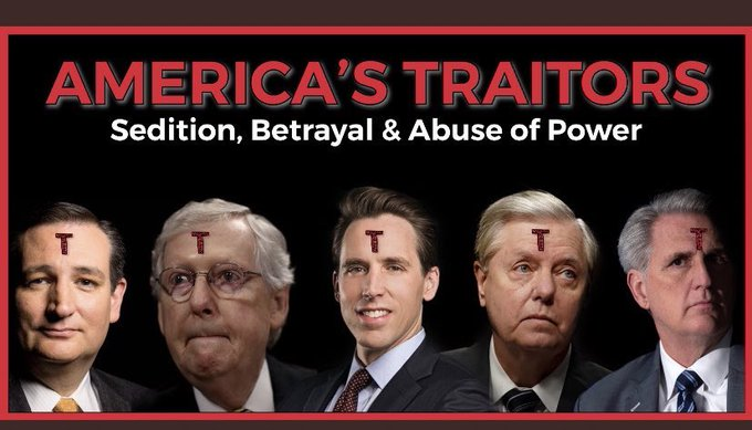 @mmpadellan Dear United States of America,    I respectfully submit to you the #1 reason there will be no unity until every (R) who supported Trumps 4yr crime spree and/or his seditious insurrection is brought to justice.  #SCOTUS @tedcruz @HawleyMO @LindseyGrahamSC @GOPLeader  #MoscowMitch