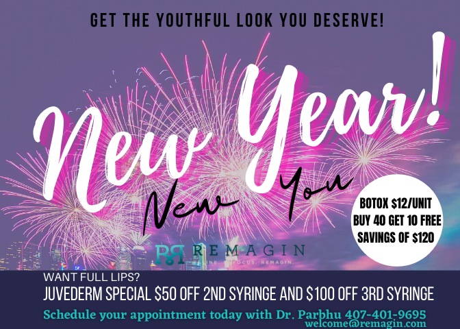 New Year New You! Get the youthful look you deserve here at REMAGIN. Appointments are filling up, schedule today at 407-704-3937 #remagin #drparbhu #botox #juvederm #lipfiller #windermere #orlando #disney #plasticsurgery #bestdoctor #mondaymotivation