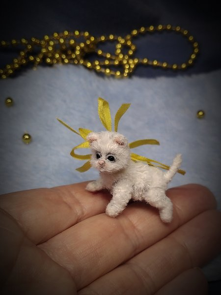 Micro Kitten Beauty by Petrova Marina   #handcrafted #handmadecats #cat