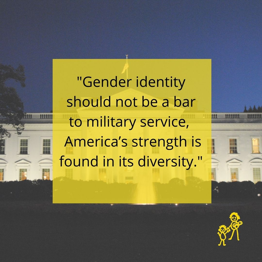 Thank you Pres. Biden! Supporting the ability of #transgender individuals to participate fully in our society is vital to reducing the high rate of poverty, homelessness, and suicide we see in the community.
