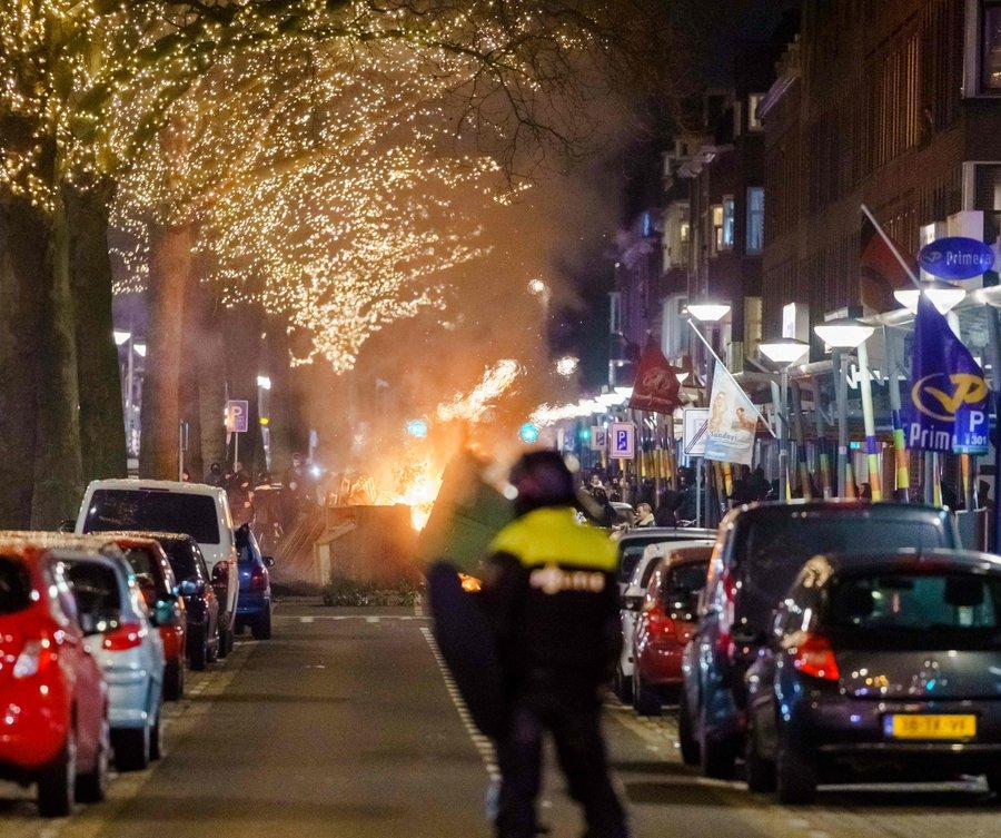 Holland Corona Krise; Die zweite Nacht der Unruhe ---