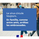 Image for the Tweet beginning: Le virus circule toujours. Il faut