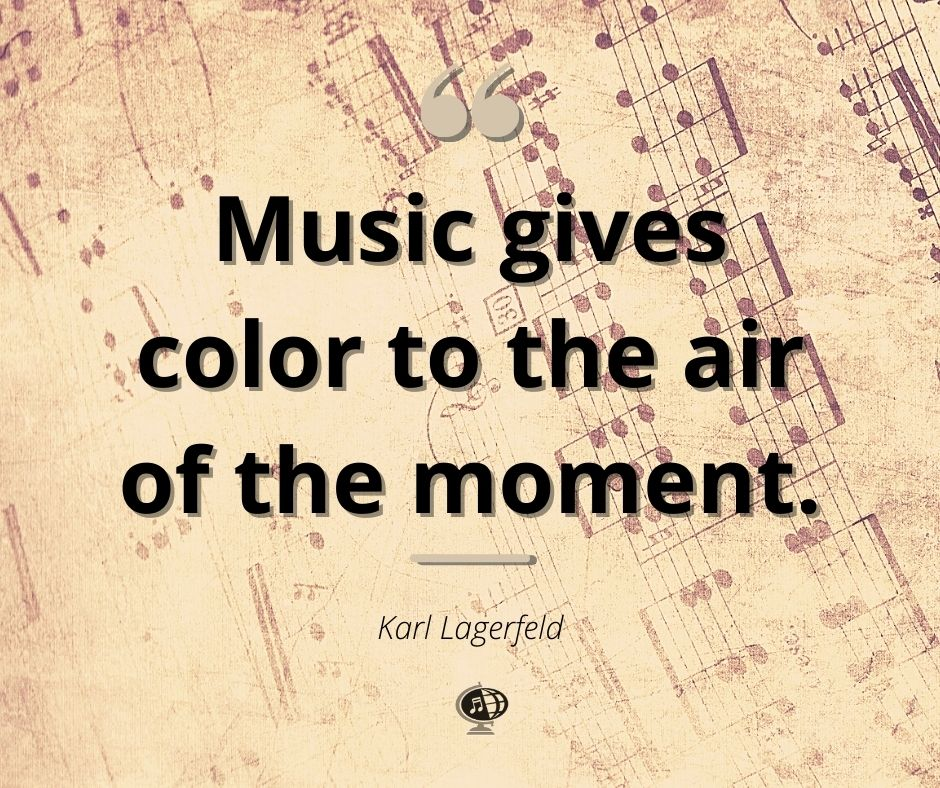 """""""Music gives color to the air of the moment.""""– Karl Lagerfeld  #MondayMotif #MondayMotivation #MotivationMonday #MusicCanChangeTheWorld #ConcertToursWithIntegrity"""