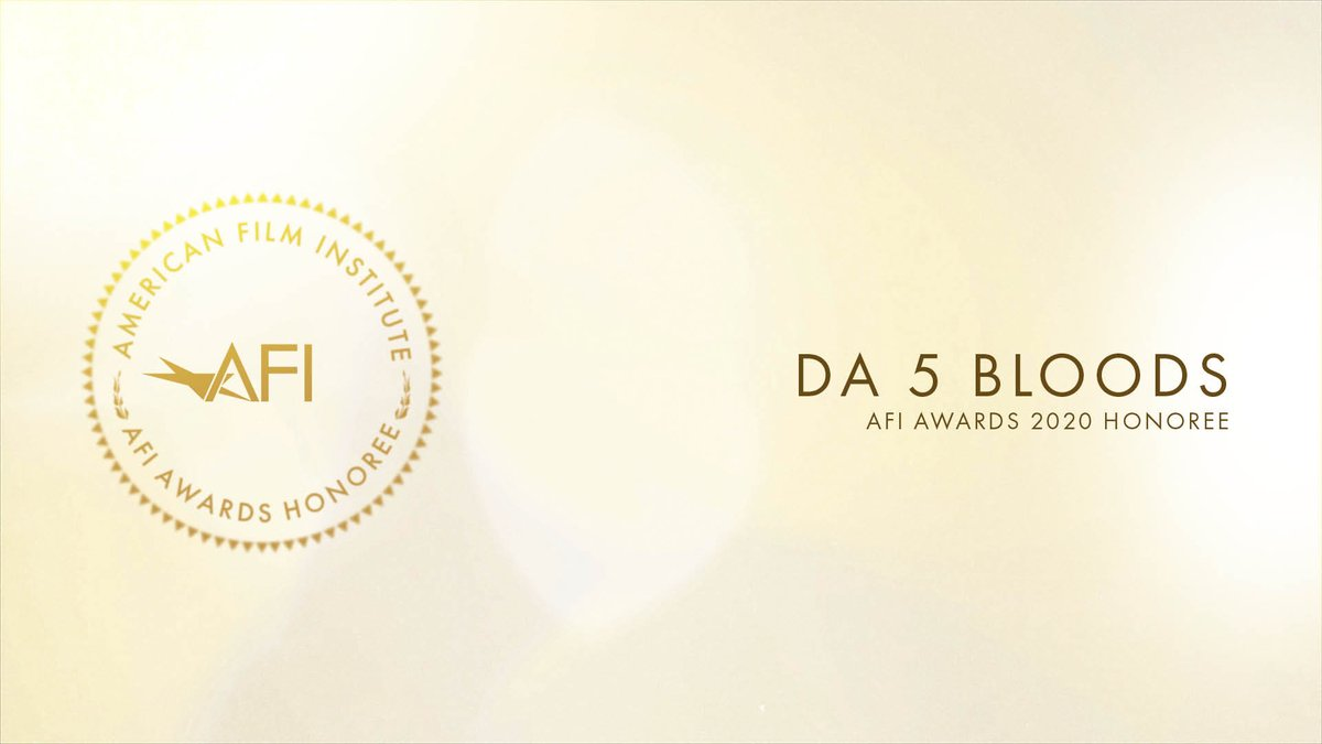 Congratulations to #AFIAWARDS 2020 honoree #Da5Bloods, one of the most outstanding films of the year.