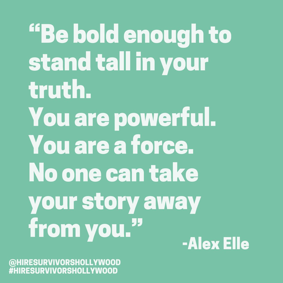 """Today's #MondayMotivation comes from @_alexelle , survivor, advocate and author of """"After The Rain"""". Thank you for sharing your truth, your power, and your story. 🙌🏼  #mondayquotes #mondaymood #mondayvibes #metoo #survivor #survivors #silencebreakers #love #alexelle #alexellepoem"""