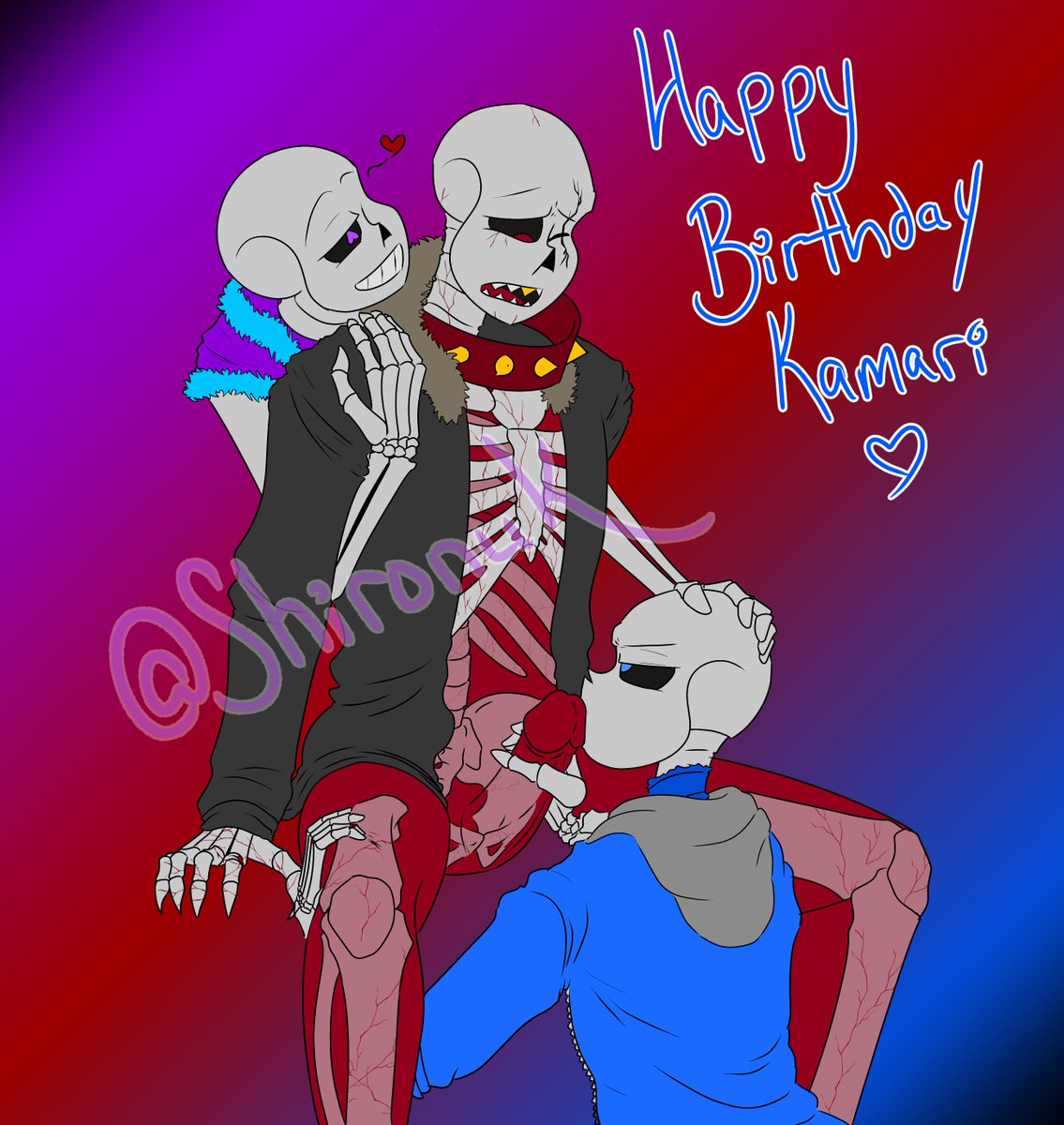 happy super late birthday to @kamari333 ! Here's their burlesque trio :D probably one of my favorite fics ever so dance and lust doting on red <3 #underfell #dancetale #underlust #sans #undertail #burlesque
