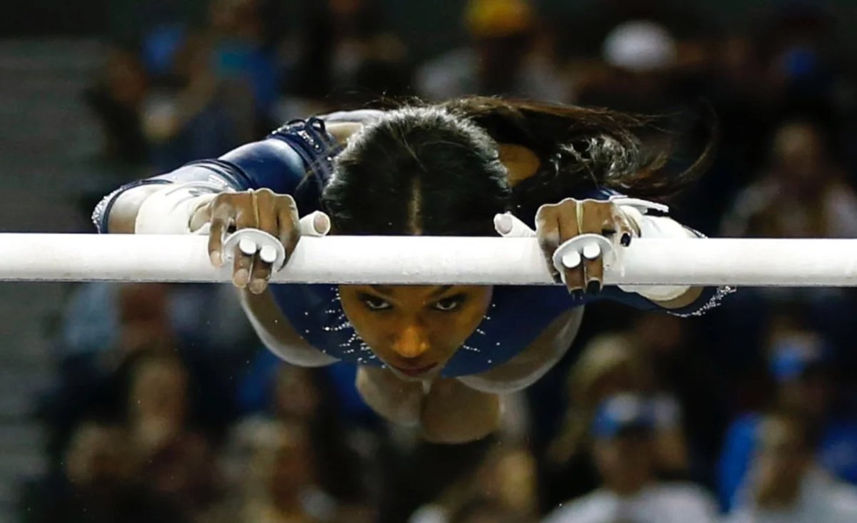"""WATCH: UCLA athlete goes viral for her """"Black excellence"""" gymnastic routine https://t.co/PTNC3l1PtA https://t.co/E7JsFF4cOG"""