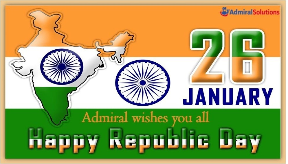 Admiral wishes you all a very Happy Republic Day.  Please visit our website mentioned below to know more about us     #admiralsolutions #admiralgroup #GIC #BPO #ITES #EmployeeEngagement #delhincr #Gurgaon #greatplacetowork #certified #UKbased