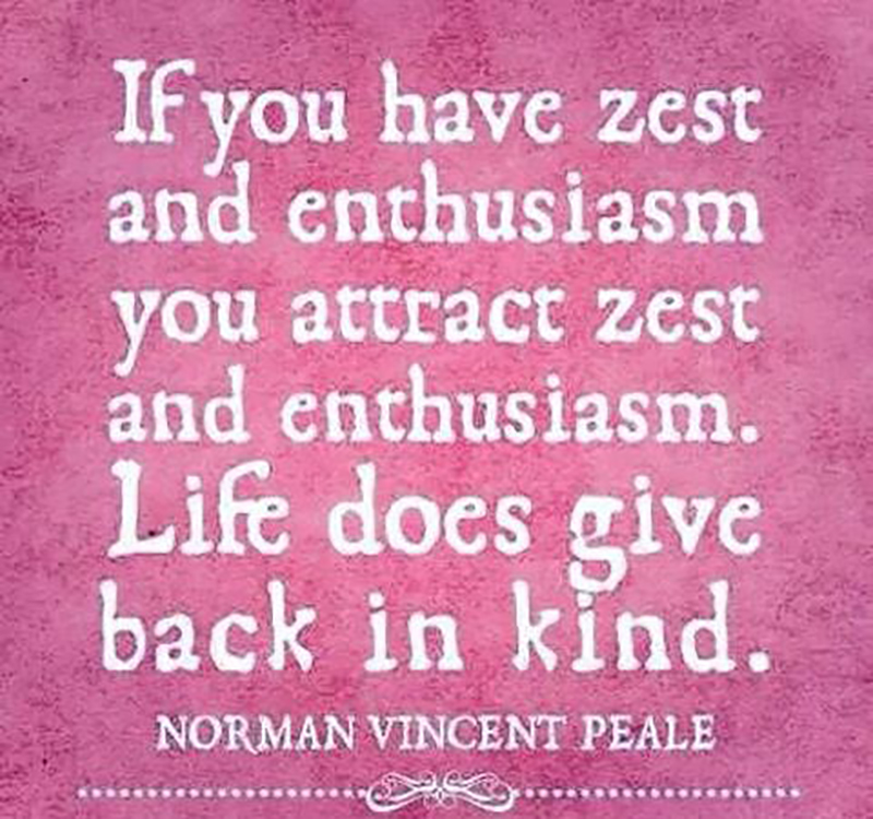 Right on...live ZESTY my #friends & #spread enthusiasm #everywhere you go! ☝❤️😎  #mondaythoughts #positivity #quoteoftheday #MondayMotivation #PositiveVibes #quotes #CONTACT #BandSDesigns #DigitalMarketing #promotion #startups #business #markets #success #Growth #SuccessTRAIN