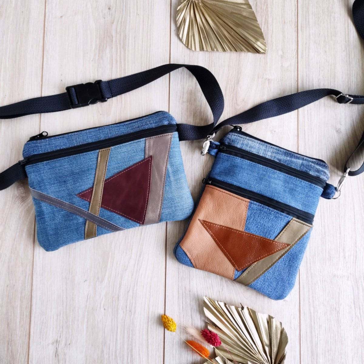 Another set made of recycled materials 💙 #airyfairybags #etsy #amazonfinds #amazonhandmade #bohochic #recycled #recyclecum #savetheplanet #spaceoddity #handmade #upcycling #upcycle #recycling #denim #jeansstyle #jeans #bags #bagstyle #blueplanet #recycledart