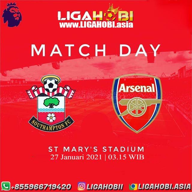 ENGLAND - PREMIER LEAGUE  Southampton VS Arsenal  Selasa, 27 Januari 2021  Time : 03.15 WIB . . BONUS DEPOSIT HARIAN 10% WA : +855 966719420 LINK : WWW . LIGAHOBI . ASIA https://t.co/4pF8bgrJkl