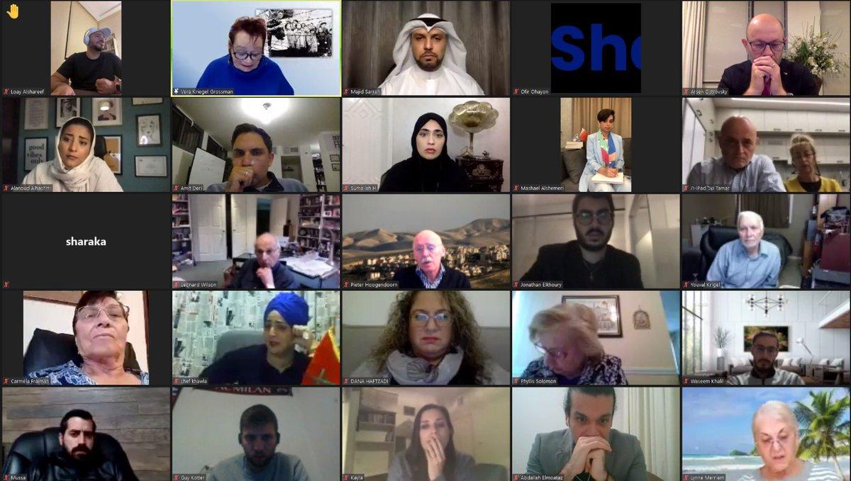 مواطنون من السعودية والإمارات والبحرين والمغرب استمعوا اليوم إلى شهادة احدى الناجيات من المحرقة النازية. وقالت مشاركة سع…