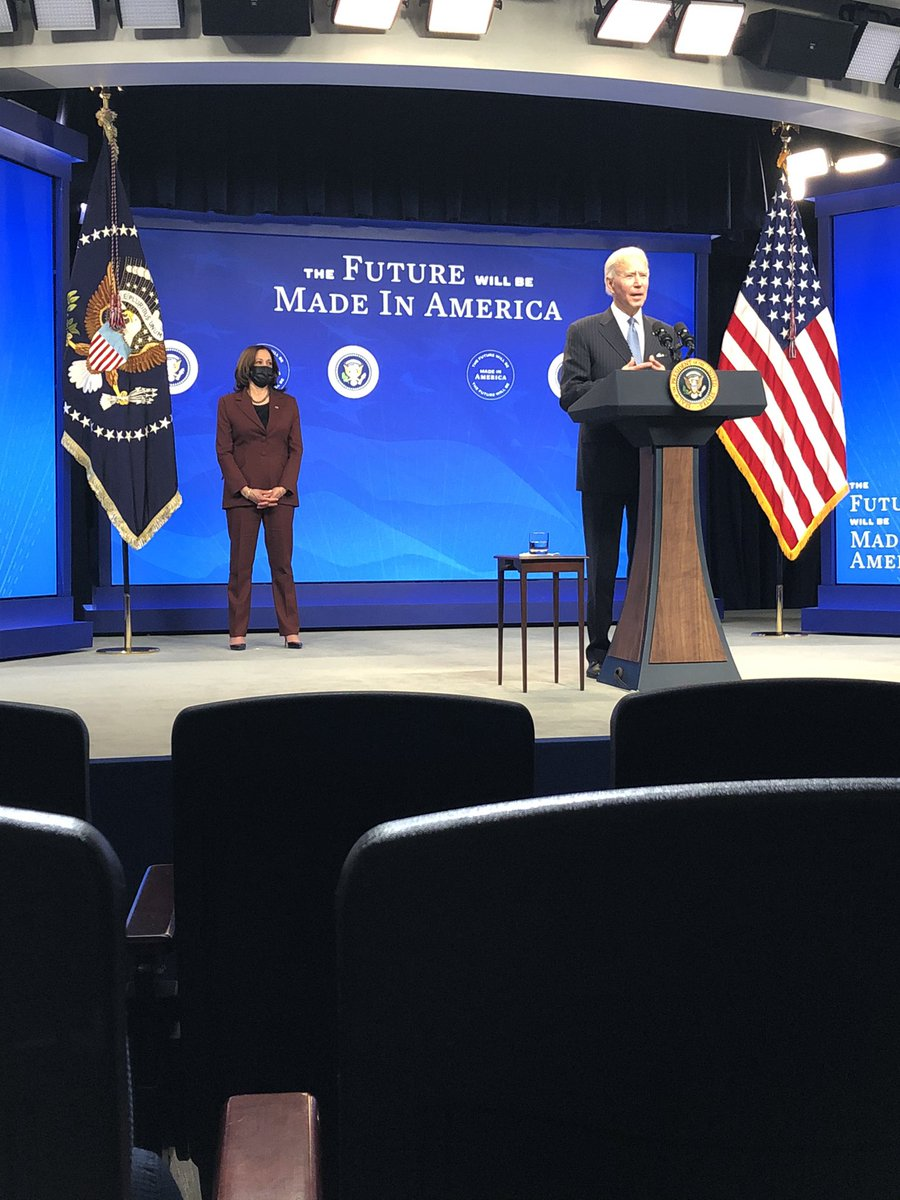 """Biden announces he's creating a """"director of 'Made in America'"""" at OMB to push federal agencies to buy from American manufacturers"""