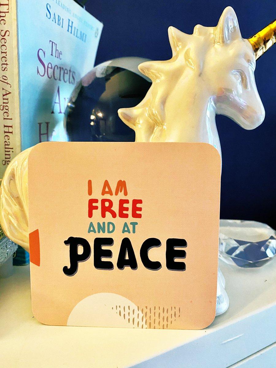 #MondayMotivation #Affirmation  I am Free + at peace 🕊🕊🕊