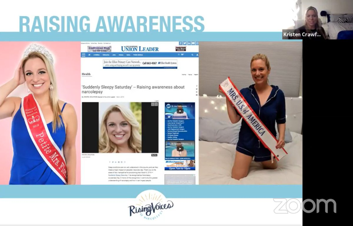 """""""You're just doing too much... Somehow I knew that wasn't the full story.""""   #RisingVoicesofNarcolepsy speaker Kristen spent 25+ years being misdiagnosed, and now uses her pageant platform to spread critical #narcolepsy awareness. Video available now!"""
