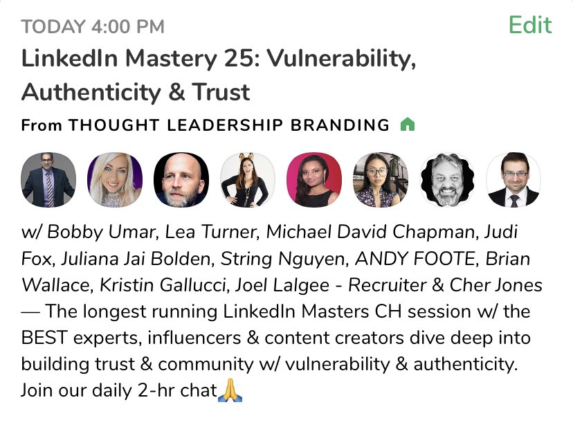 10 min away! We discuss this powerful topic on the #ClubHouseApp.  ❇️ LINK:   #contentmarketing #vulnerability #authenticity #leadership