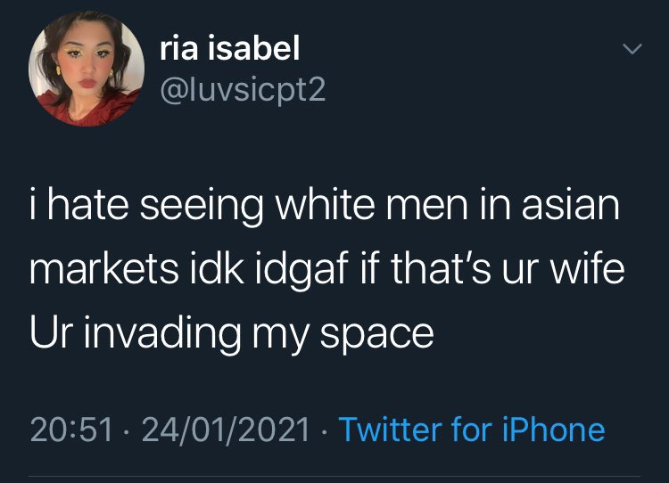 Telling Asian shop-owners they'll have to do without white customers because their shops have been declared a cultural space