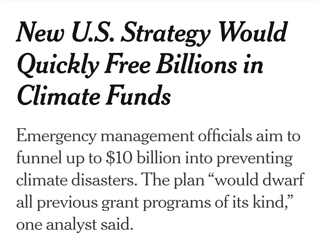 "Let's do this, now: ""Federal officials, showing how rapidly the @JoeBiden administration is overhauling climate policy after years of denial under Trump, aim to free up as much as $10 billion at FEMA to protect against climate disasters.""  #ActOnClimate @nytimes"