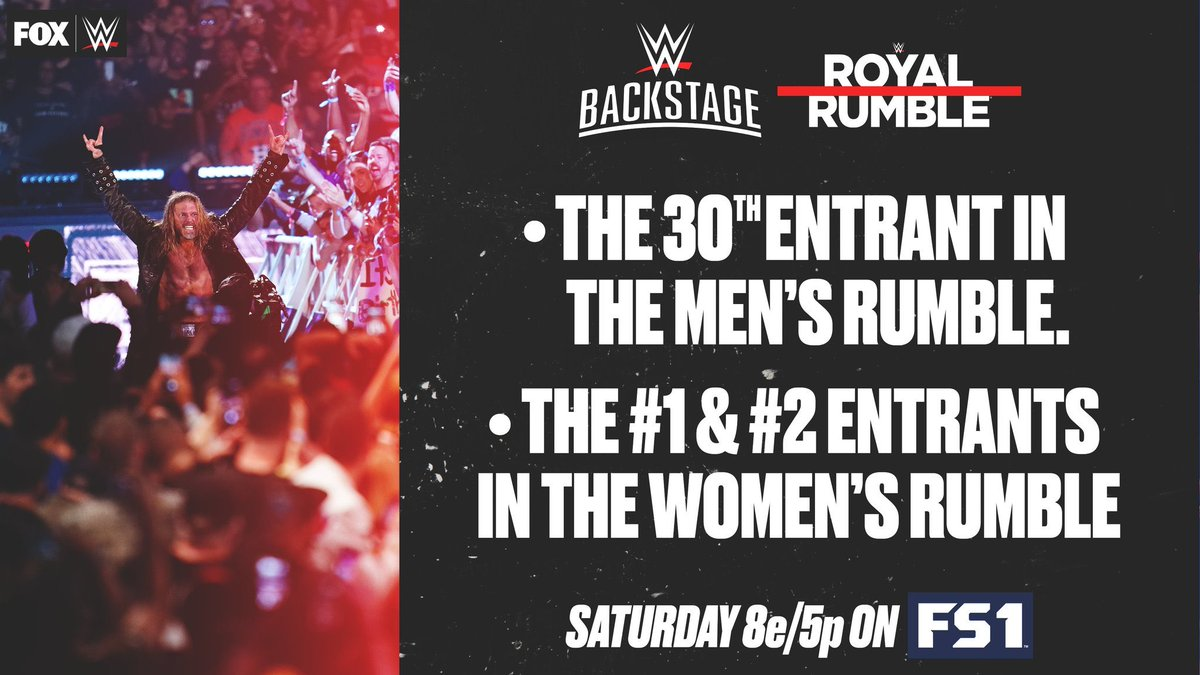 Screw it, let's just take all the fun from #RoyalRumble out and announce the entry order. #WWERAW #WWE