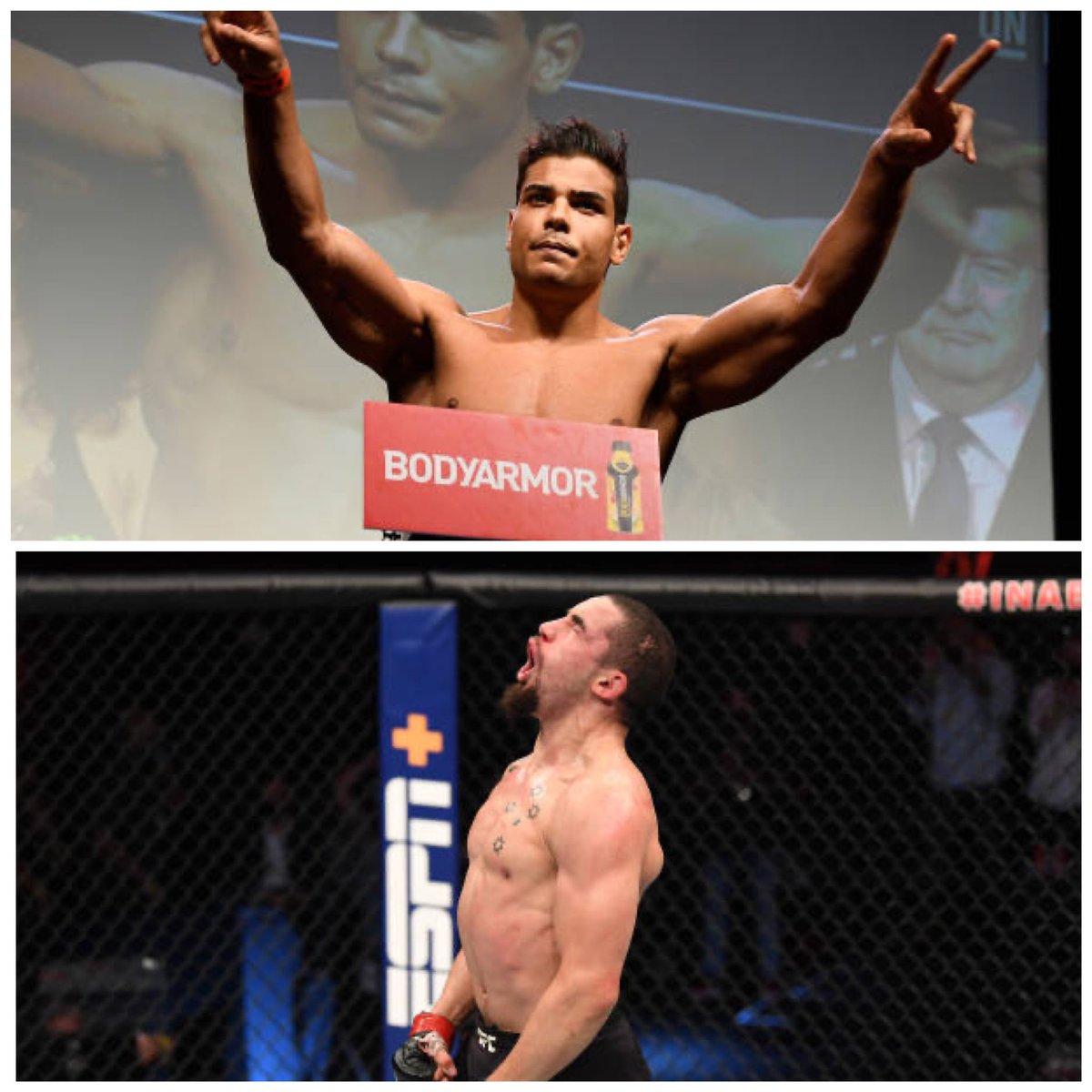 UFC officials confirm, Robert Whittaker (@robwhittakermma) vs. Paulo Costa (@BorrachinhaMMA) will headline an event on April 17. Five rounds. How good is this? https://t.co/mexXsiqWuF