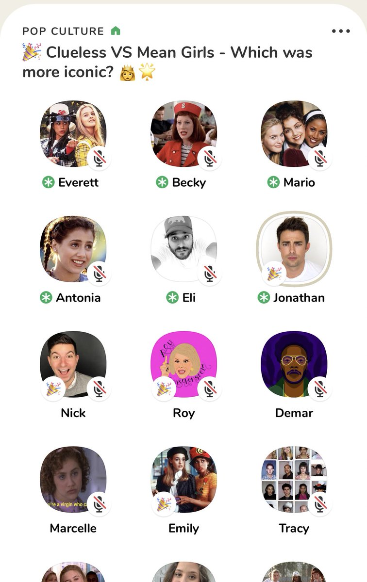 Shoutout to Aaron Samuels for crashing our Clueless VS Meangirls clubhouse room... guess how he voted @JonathanBennett #youget5votes #forthenostalgia  💁♀️💁♀️💋