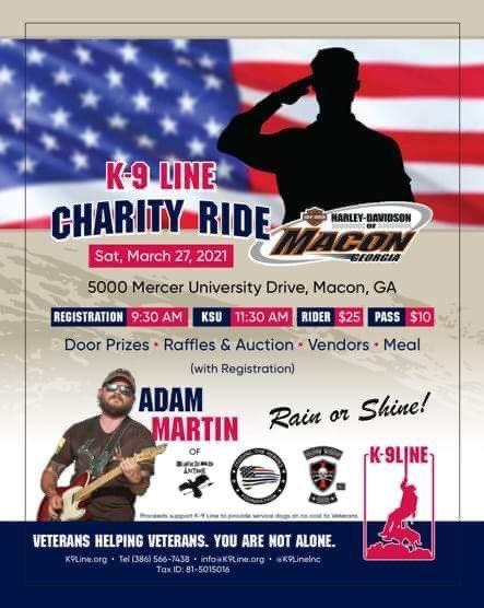 #macon #georgia - Mar. 27  #motorcycles #charityevent #k9  #servicedog #veterans  #thebikerbookforcharity