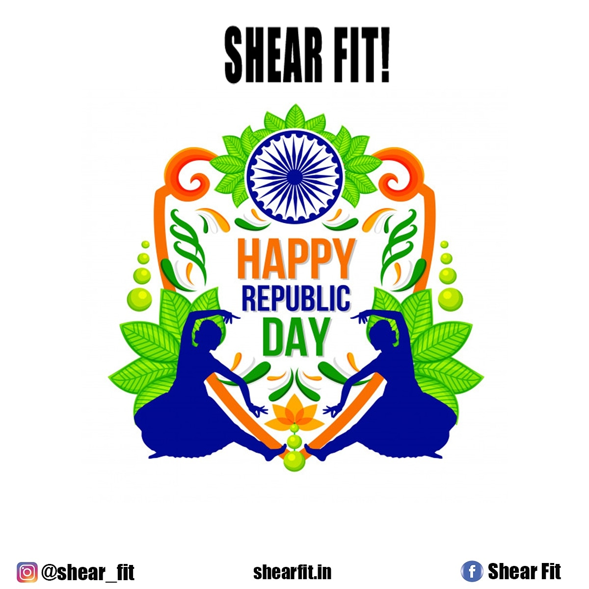 Freedom in the mind, strength in the words, pureness in our blood, Pride in our souls, zeal in our hearts, let's salute our nation onRepublic Day.Happy Republic Day2021! #RepublicDay #India #Indian #NationalDay #ShearFit #Fitness #Workout #FitGirl #FatToFit #GymLife #GymFreaks