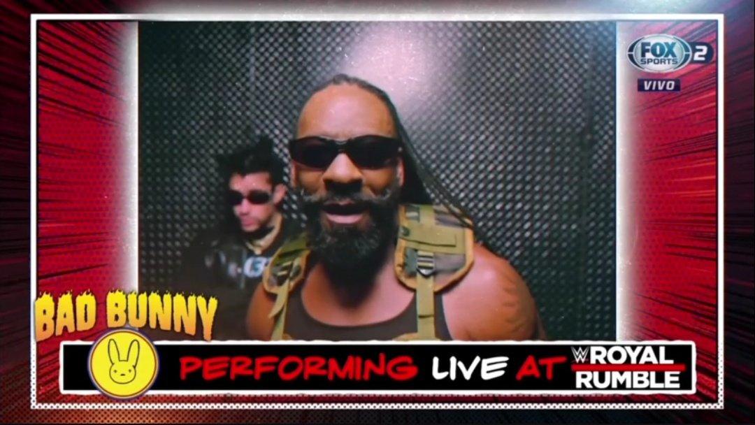 ¡Ya lo saben el cantante Bad Bunny tendrá un performance este domingo en #RoyalRumble !  #WWE #WWERaw
