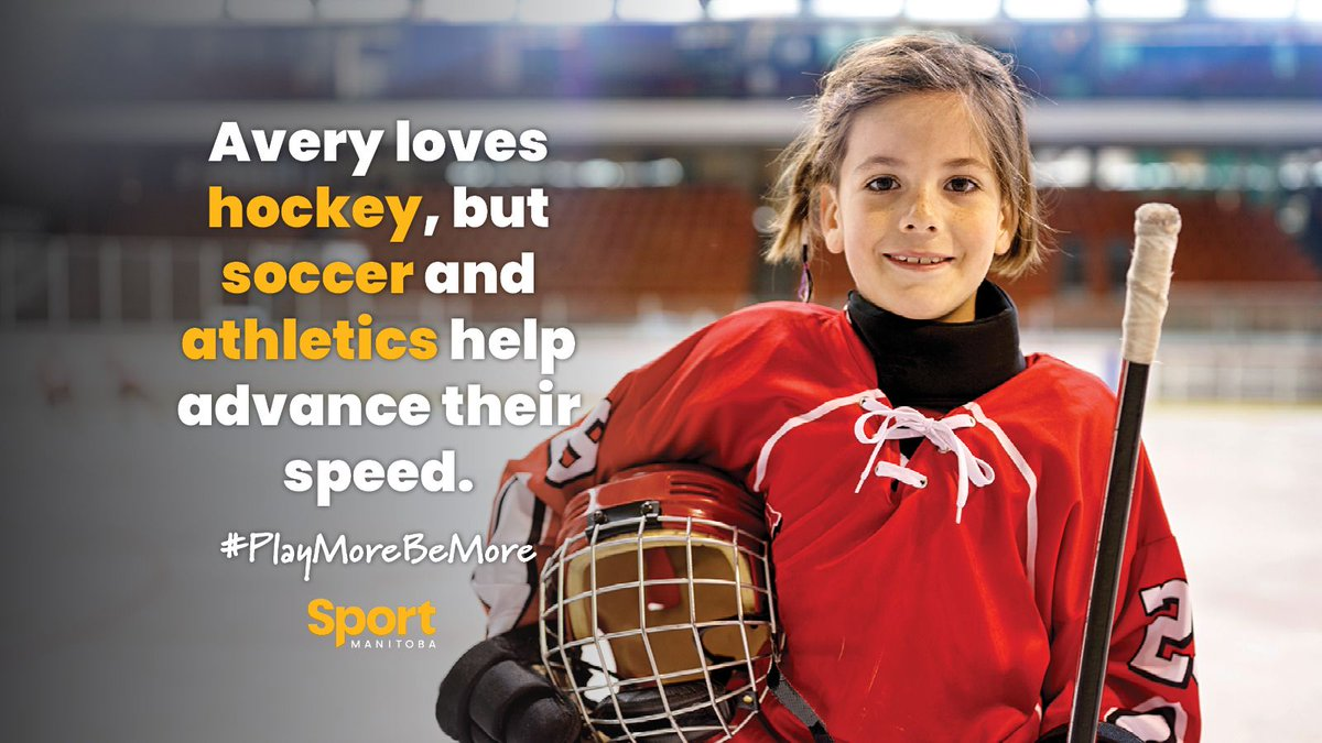 Did you know playing multiple sports can actually help young athletes excel in their chosen sport? Learn more on our website: buff.ly/2Xq8nsV #PlayMoreBeMore #MultiSport @hockeymanitoba @ManitobaSoccer @AthleticsMB
