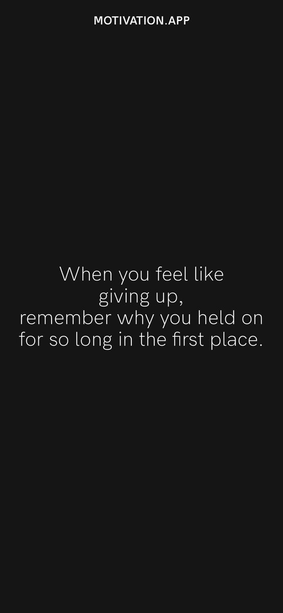 When you feel like giving up, remember why you held on for so long in the first place. From @AppMotivation #motivation #quote #motivationalquote