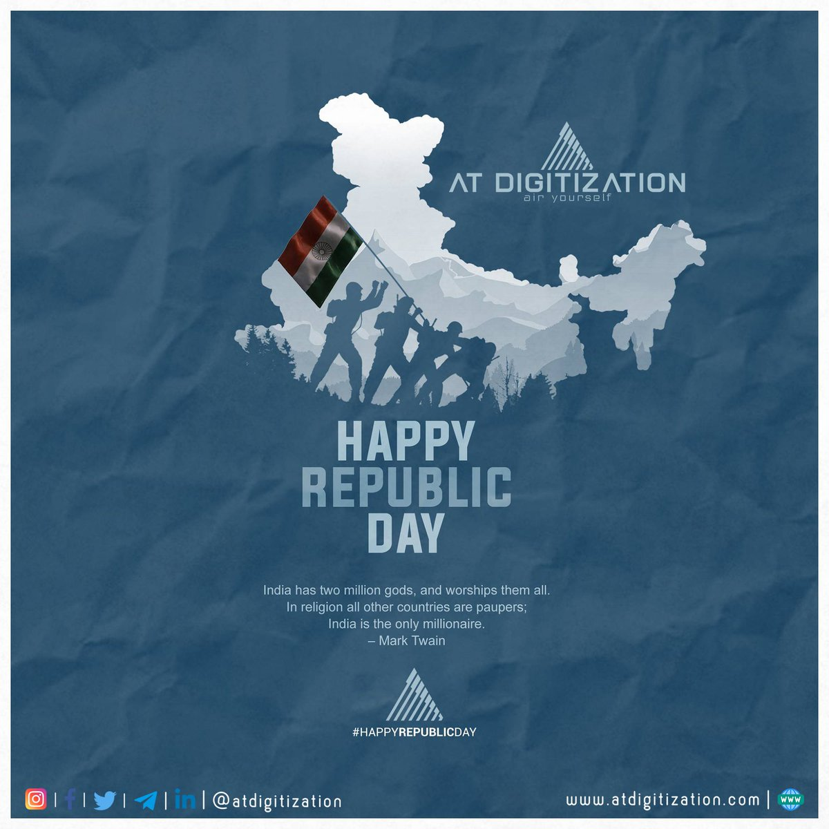 i16 - Freedom of thought, strength in our convictions and pride in our heritage. Let's salute our brave martyrs on Republic Day. Happy Republic Day! . . . #republicday #republicdayindia #26january #digitalmarketing #designer #apple #smartphone #futuretechnology #science