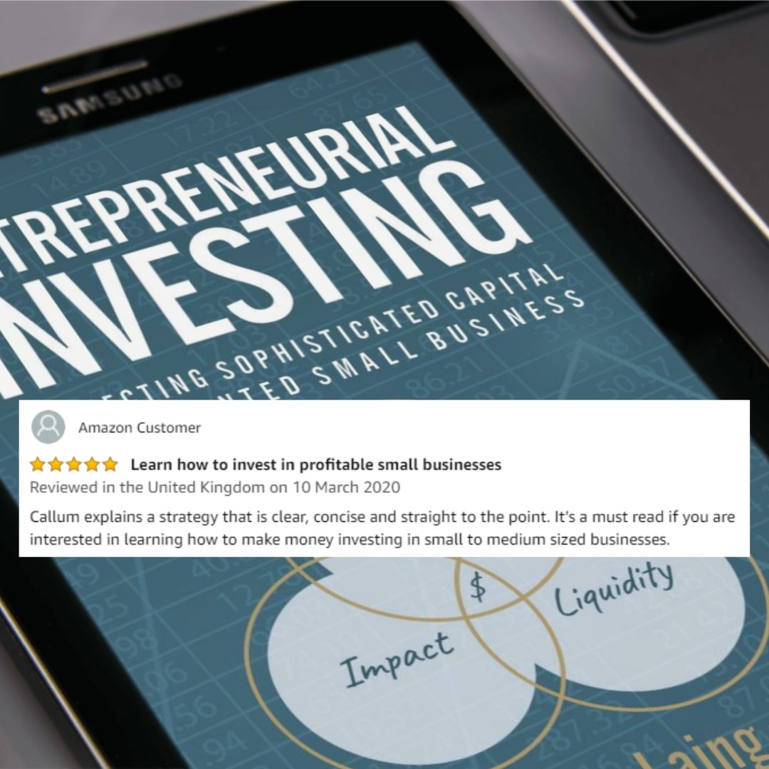 Callum explains a strategy that is clear, concise and straight to the point. It's a must read if you are interested in learning how to make money #investing in small to medium sized #businesses. #sme #businessgrowth #investors #bookreview