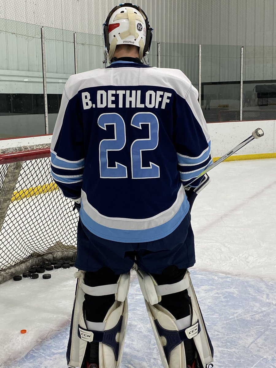 I am a hockey player at Mona Shores High School. I am wearing my brothers number and name plate to honor him for his senior year that @GovWhitmer and the MDHHS took away from us. He would still be here today if they followed the #Science they speak of #LetUsPlay @MichHSHockey