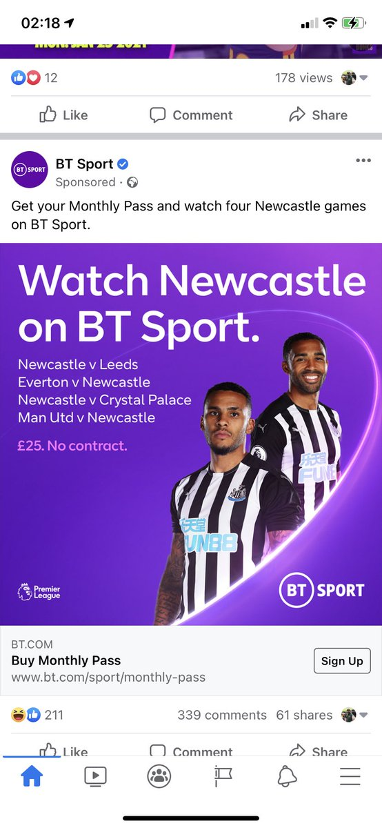 Can't believe they actually use #NUFC as a marketing tool 🤦🏻♂️